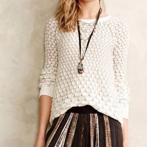 Anthropologie Moth Honeycomb Knit Sweater, Size XS